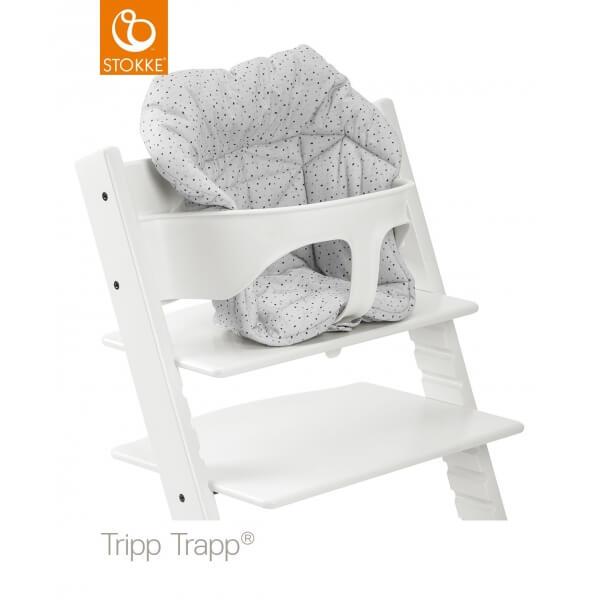 Coussin Chaise Haute Tripp Trapp Mini Pois Couleurs Nuage