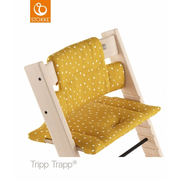 stokke coussin chaise haute tripp trapp ocre abeille made in b b. Black Bedroom Furniture Sets. Home Design Ideas