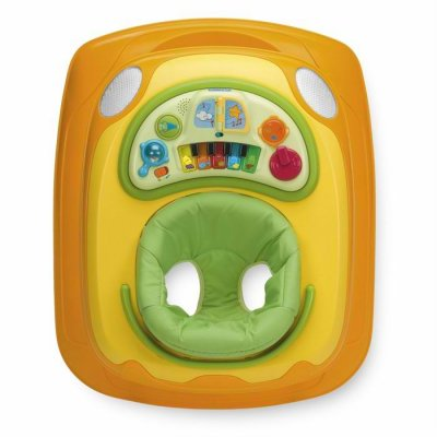 Chicco Trotteur band piano jaune - Made In